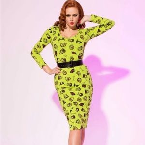 PUG Clothing Hannah Wiggle Dress in Monster - XL